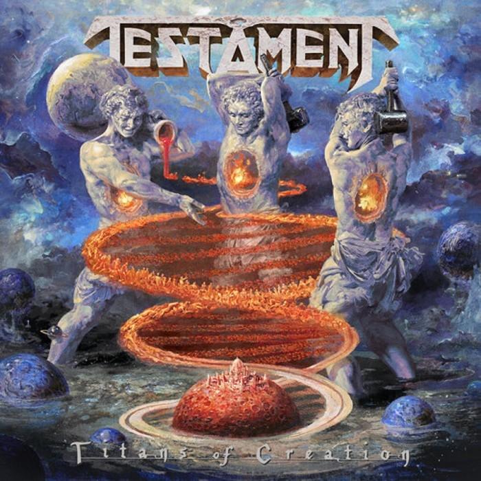 Testament : Titans Of Creation - Solid Blue Vinyl  (LP)